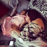 Chris Brown Shares Adorable Photo of her Mum and Royalty Sleeping