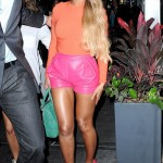 Beyonce Flaunts Flawless Legs in Hot Pink Shorts While Hitting the Studio in NYC