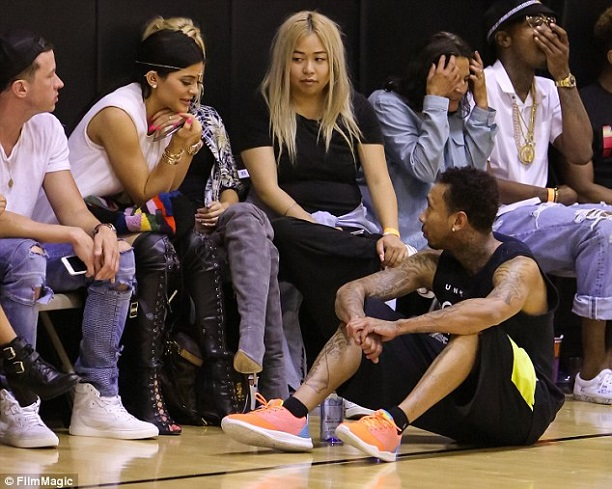 kylie-jenner-tyga-celebrity-basketball-game