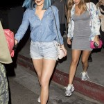 Kylie Jenner Flaunts Butt Cheeks in Ripped Hot Pants at the Club